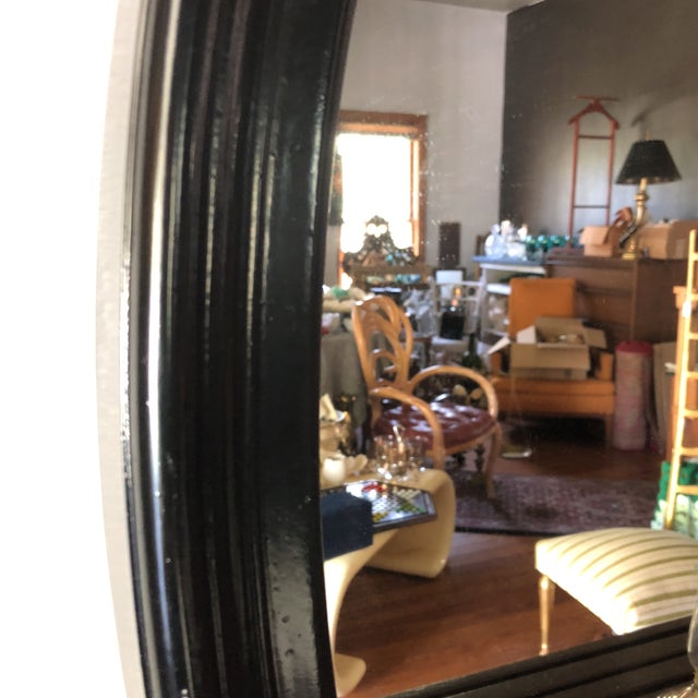 Beautiful wooden oval wall mirror. Lightweight and classic.