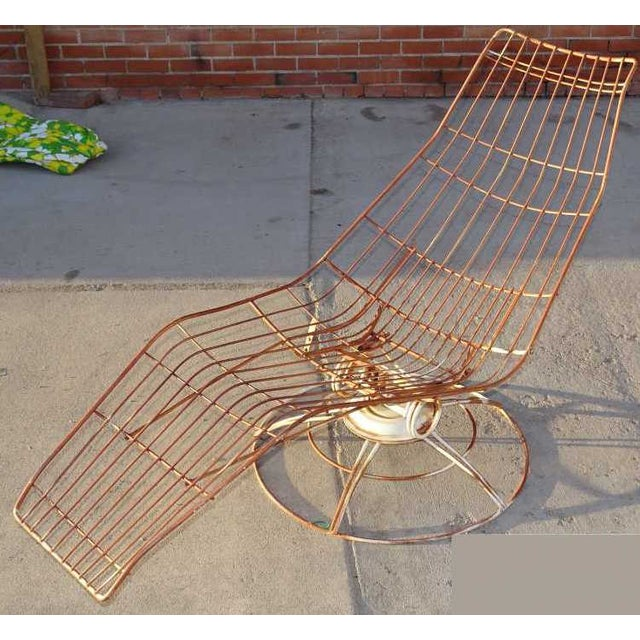 Mid-Century Modern Homecrest Iron Chaise Lounge For Sale - Image 3 of 3