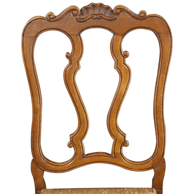 1950s Dining Chairs Louis XV Rococo Vintage French 1950 - Set of 6 For Sale - Image 5 of 11