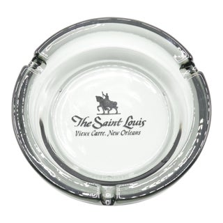 The Saint Louis Hotel of New Orleans Glass Ashtray For Sale