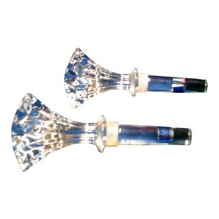 Waterford Brookside Crystal Wine Stoppers Marquis, Made in Austria - A Pair
