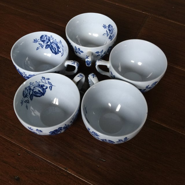 Traditional Johnson Brothers English Blue & White Dinnerware For Sale - Image 3 of 8