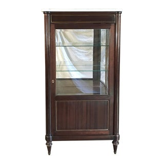 Antique French Directoire Mahogany Vitrine For Sale