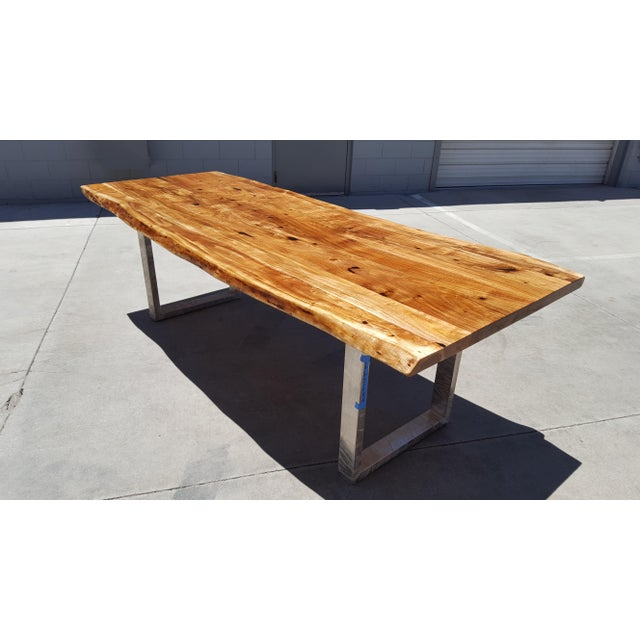 Acacia Wood Live Edge Dining Table - Image 2 of 9