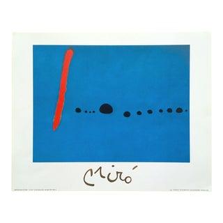 "Joan Miro Rare Vintage 1999 Iconic Spanish Surrealist Lithograph Print "" Bleu II "" 1961 For Sale"