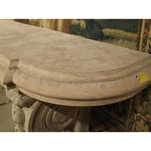 Early 20th Century Antique Marble Top Console Table from South-East France For Sale - Image 5 of 10