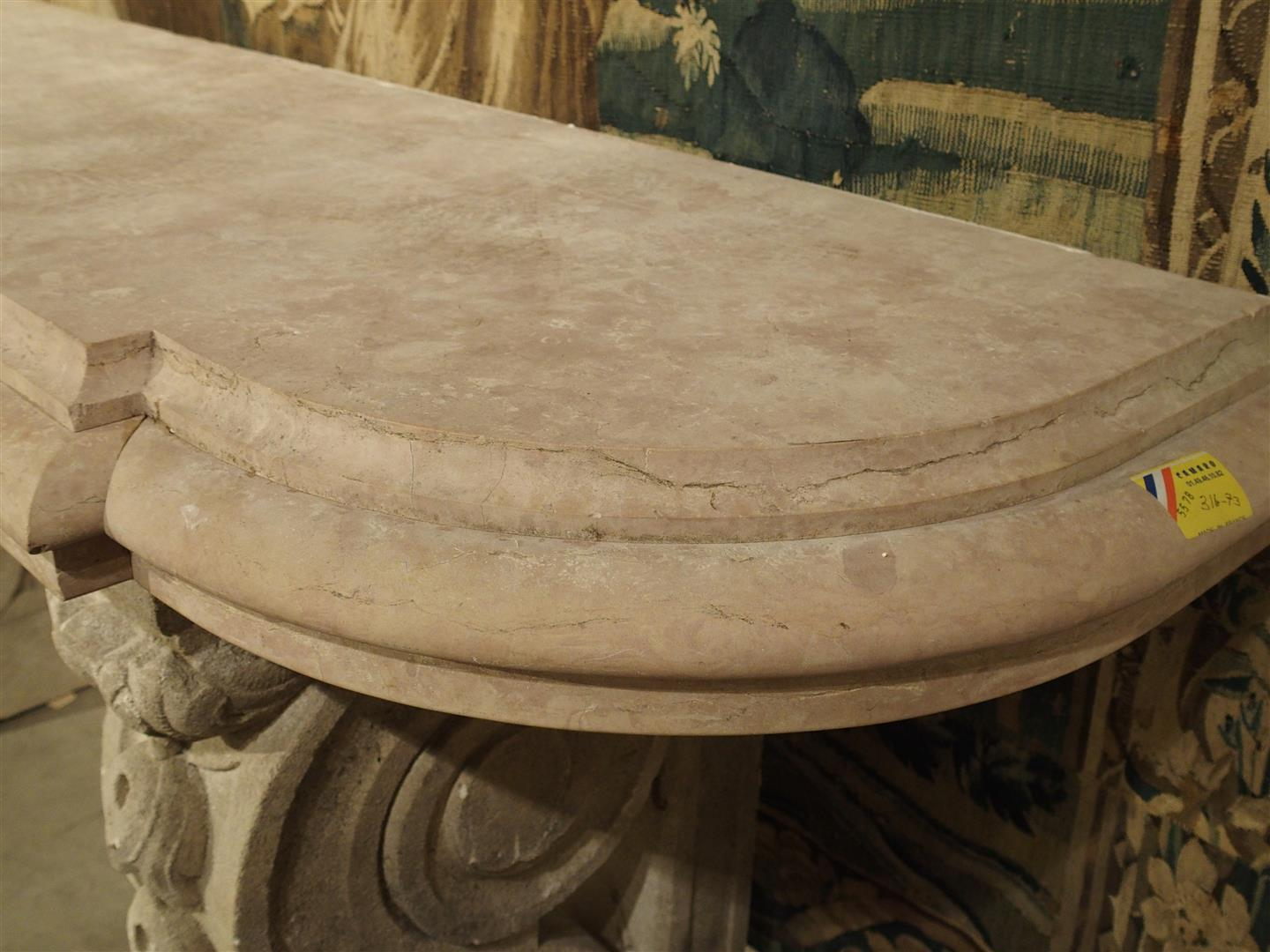 Antique Marble Top Console Table From South East France   Image 5 Of 10