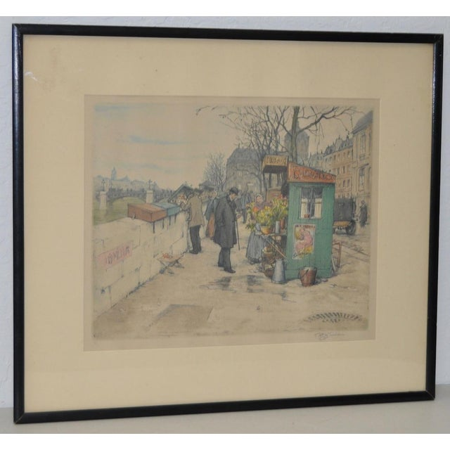 T.F. Simon Color Lithograph c.1920 Remarkable pencil signed color lithograph by listed Czech artist Tavik Frantisek Simon...