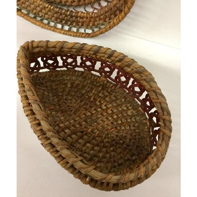 Brown 1930s Boho Chic Lidded Teardrop Shaped Basket For Sale - Image 8 of 13