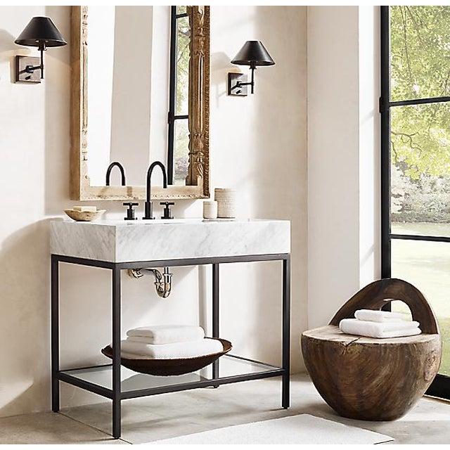 Restoration Hardware Restoration Hardware Hudson Metal Single Washstand Bathroom Sink Vanity For Sale - Image 4 of 9