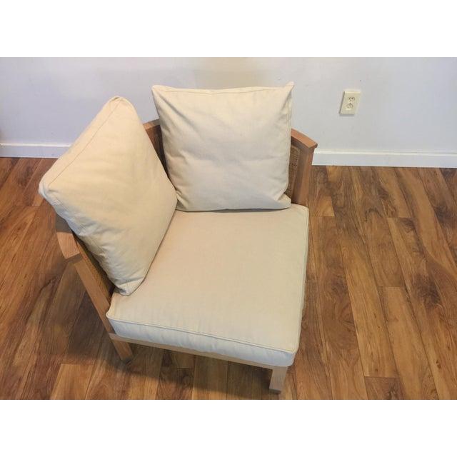 Brown Flexform Italian Wood & Wicker Rosetta Chair For Sale - Image 8 of 11