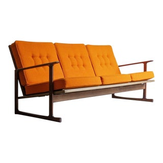 1960s Vintage Ib Kofod Larsen for Selig Sled Sofa For Sale