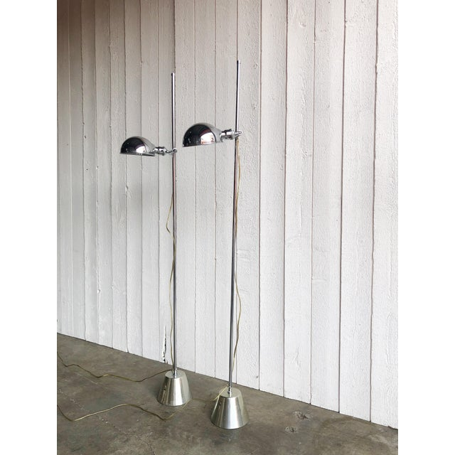 Adjustable Chrome Reading Lamps - a Pair For Sale - Image 9 of 9