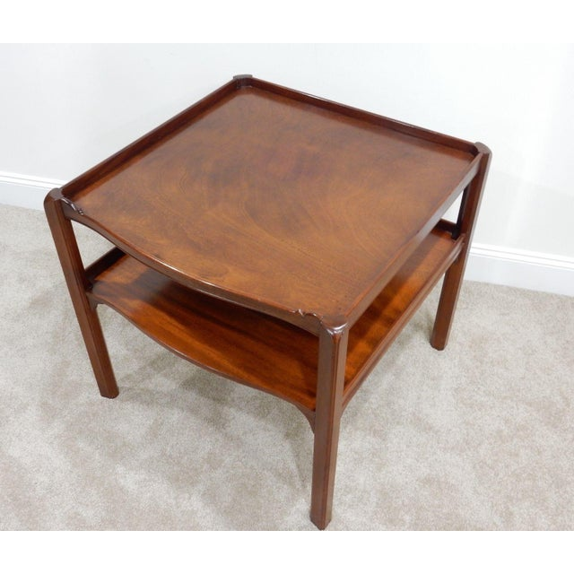 Baker Furniture Large 2 Tier Mahogany Table - Image 11 of 11