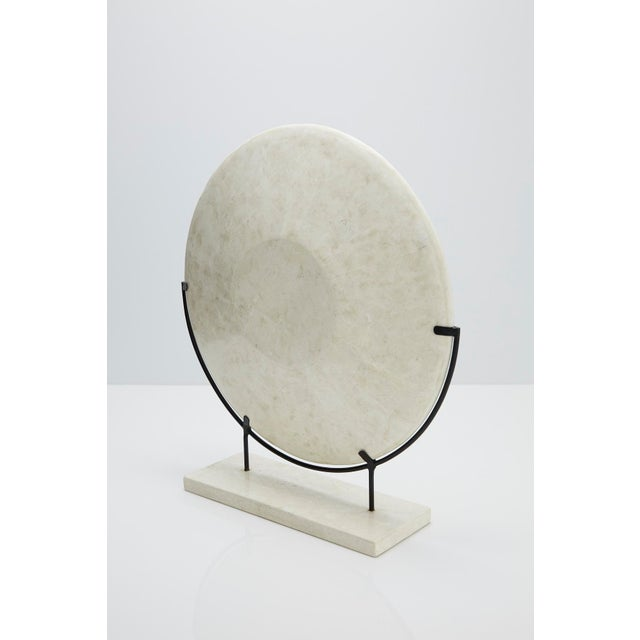 """Iron 1990s Modern Tessellated Woodstone """"Illusion"""" Plate on Iron Stand For Sale - Image 7 of 12"""