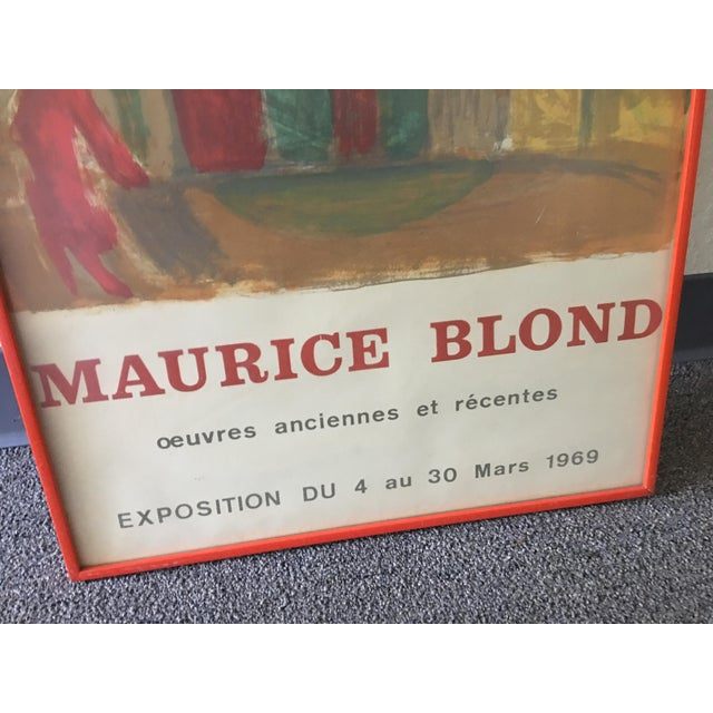Anonymous 1969 Abstract Maurice Blond Original Gallery Poster For Sale - Image 4 of 6