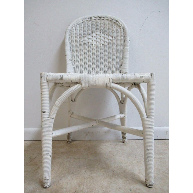 Wicker Antique Wicker Outdoor Patio Chair For Sale - Image 7 of 11