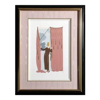 "1970s Erté, ""Cloudy Morning"", Art Deco Screenprint For Sale"