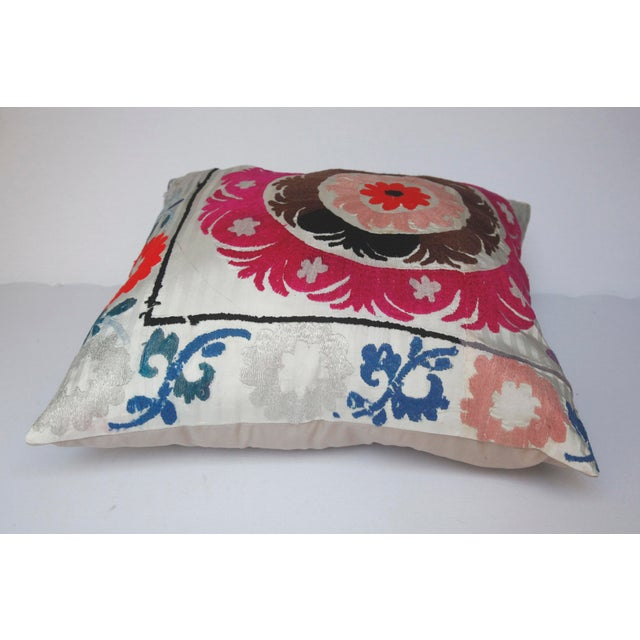 Rose 1970s Boho Chic Decorative Needlework Throw Sofa Pillow Cover For Sale - Image 8 of 12