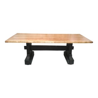 Man Size Pine Trestle Dining Table