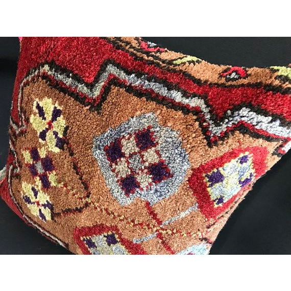 Textile 1960's Turkish Tribal Handmade Oushak Pillow Case For Sale - Image 7 of 9