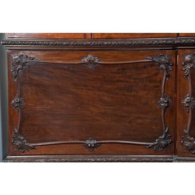 Huge George III Style Mahogany Breakfront Bookcase - Image 6 of 7