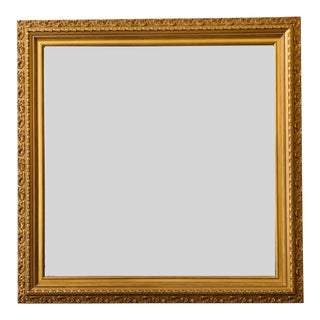 Gold Framed - Beveled Glass Square Mirror For Sale