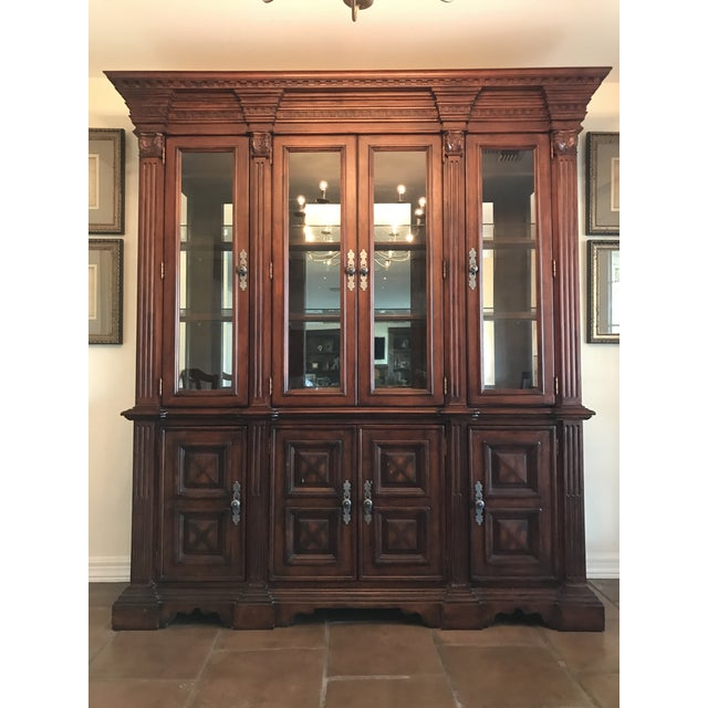 Traditional Large Lighted China Cabinet - Image 2 of 5