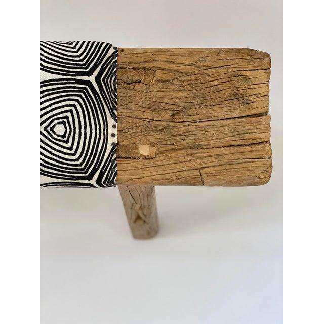 1970s Vintage Shandong Upholstered Bench For Sale - Image 4 of 7