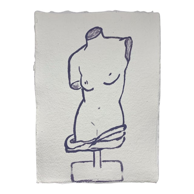Lindsey Weicht Female Sculpture No. 1 Drawing For Sale