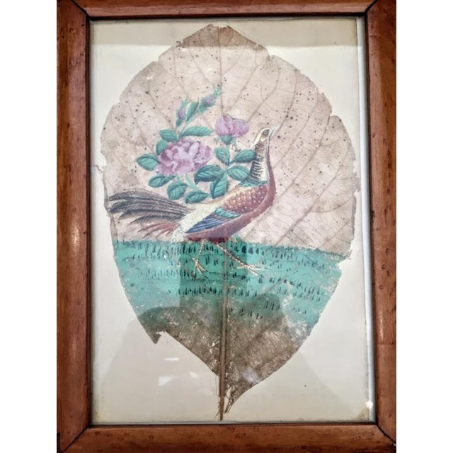 Mid 19th Century Tobacco Leaf Painting For Sale - Image 4 of 6