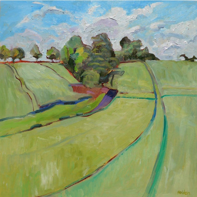This is a happy and bright oil on panel painting, painted in plein air in the countryside (the Brie plateau) in France....
