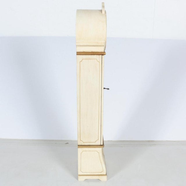 White Grandmother Wooden Clock With Hidden Shelves For Sale - Image 4 of 10