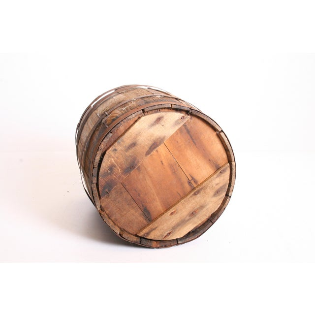 Vintage Rustic Banded Weathered Wood Nail Keg - Image 10 of 11