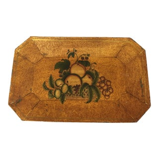 Vintage Toleware Tray For Sale