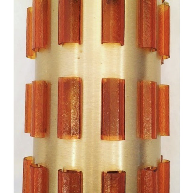 Mid-Century Modern EJS Cylindrical Pendant Ligh For Sale - Image 3 of 6