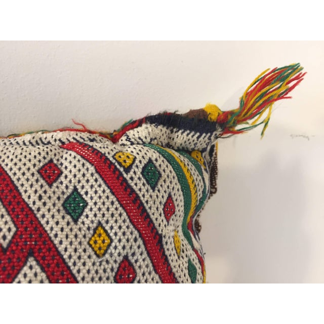 African Moroccan Berber Pillow With Tribal African Designs For Sale - Image 3 of 8
