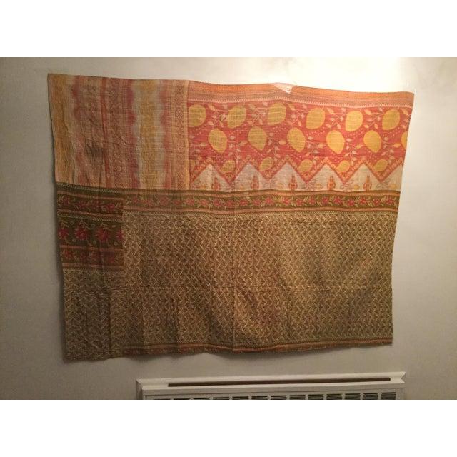 Vintage Kantha Quilt - Image 2 of 6