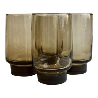 Vintage Tawny Accent Flat Tumbler - Set of 4 For Sale