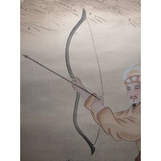 Painted Hunting Scene Mural Wallcovering Preview