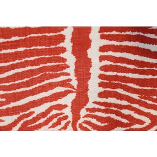 Transitional Red Le Zebre Linen Pillow Cover Preview