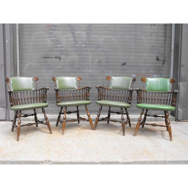 Nichols & Stone Arm Chairs - Set of 4 - Image 2 of 8