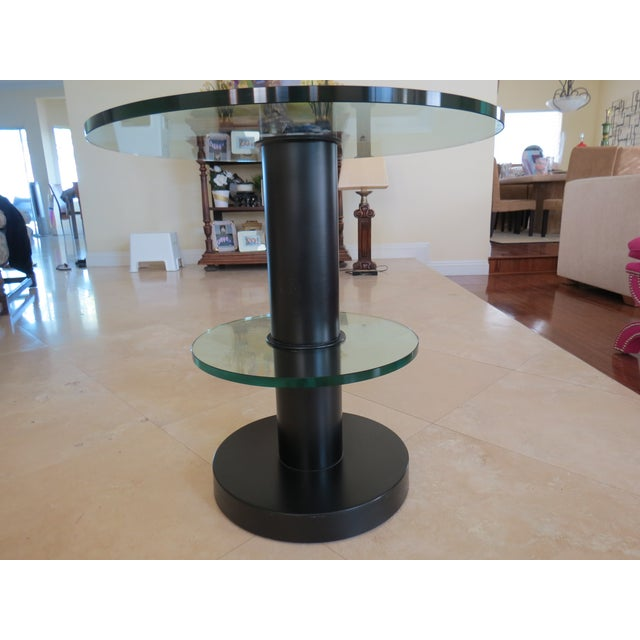 Fontana Arte Gio Ponti Design Round Side/End Table For Sale - Image 9 of 10