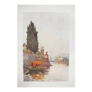 1905 Original Italian Print - Italian Travel Colour Plate - Orta For Sale