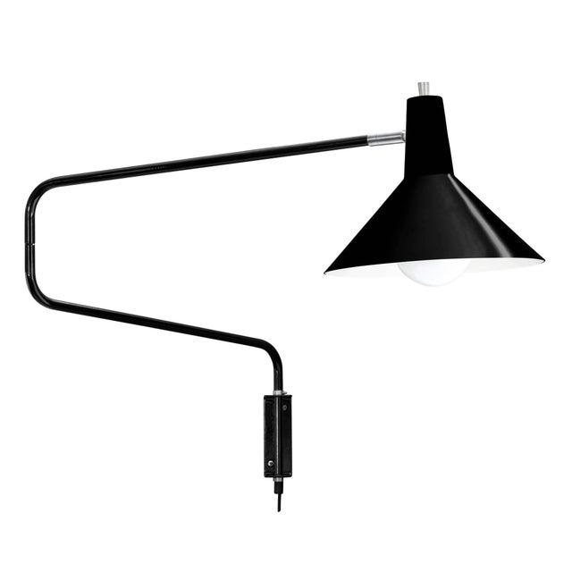 Anvia J.J.M. Hoogervorst Black Paperclip Wall Light for Anvia For Sale - Image 4 of 4