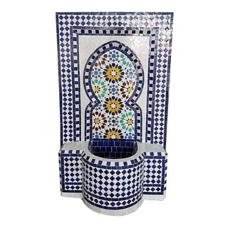 Forest Blue Moroccan Mosaic Fountain