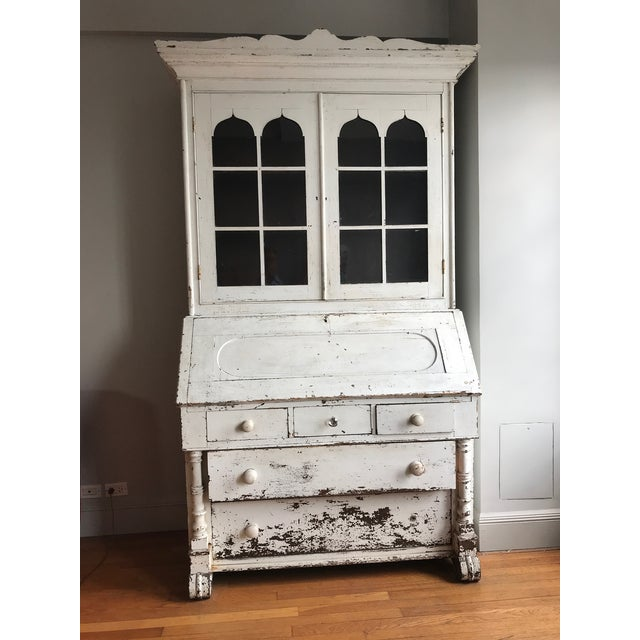 1875 Mahogany Secretary in Paint For Sale In New York - Image 6 of 6