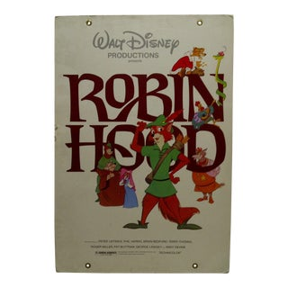 "Mounted Original Movie Poster ""Walt Disney's - Robin Hood"" in Technicolor, 1972"