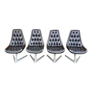 "1960s Vintage Chromcraft Sculpta ""Star Trek"" Swivel Chairs- Set of 4 For Sale"