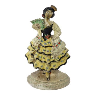 1920s Spanish Cast Iron Dancer Doorstop For Sale
